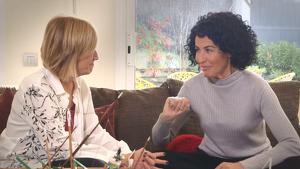Nina en un moment de l'entrevista amb Gemma Nierga