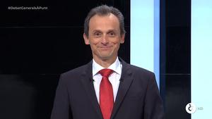 Pedro Duque en el seu minut d'or del debat d'À Punt