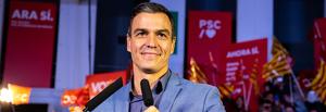 Pedro Sánchez en el cierre de la campaña electoral el 8 de noviembre en Barcelona