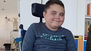 Pelayo, en su silla de ruedas