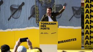 Pere Aragonès, el vicepresident del Govern, ha reclamat guanyar Ciutadans en les eleccions del 10-N