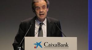 Pla mitjà del president de Caixabank, Jordi Gual