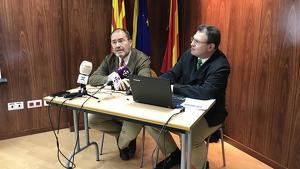 Rafa Muñoz i Juan Gallardo, del Gabinet d'Estudis de la CEPTA, han exposat les dades aquest dijous.