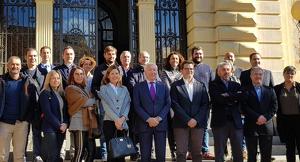 Representants de Cecot i de la nova agrupació de polígons a Terrassa