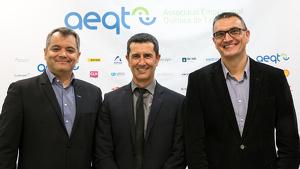 Rubén Folgado, al centre de la imatge, ha estat escollit aquest dimarts nou president de l'AEQT.