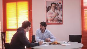 Sergio del Campo, durant l'entrevista amb TarragonaDigital, a la seu del partit taronja a Tarragona.