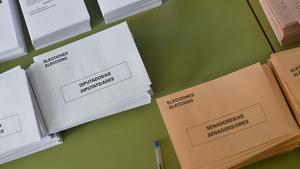 Sobres de les eleccions 10-N.