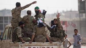 Soldats de les forces turco-síries a Sanliurfa, a Turquia, a prop de la frontera amb Síria