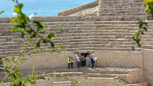 Tècnics de l'Ajuntament de Tarragona i de la Generalitat han visitat aquest dijous l'Amfiteatre.