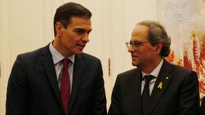 Torra estudiarà investir Sánchez si accepta establir un diàleg «sense condicions»