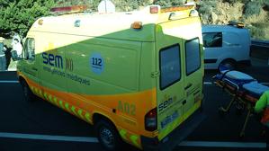 Un ferit menys greu en un xoc entre un camió i un turisme al Bages