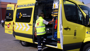 Una ambulancia medicalizada del Servicio Canario de Salud