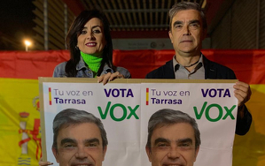 Vox ha triat l'estació de Renfe per iniciar una campanya electoral
