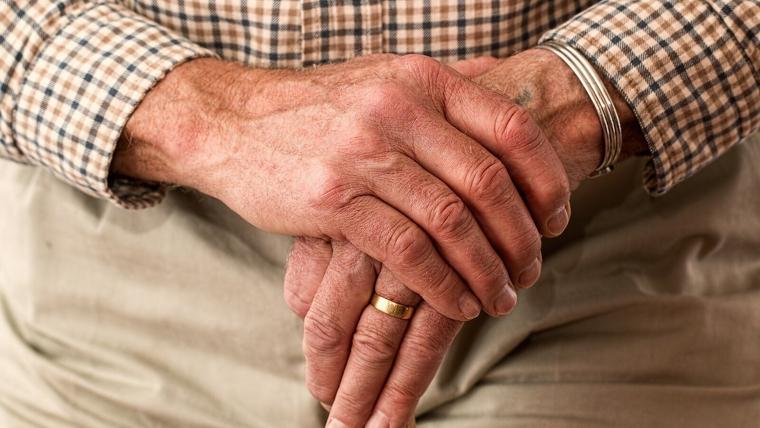 Foto d'un ancià