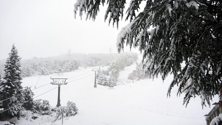 Imatge de la nevada impressionant d'aquestes últimes hores a Vaquèira