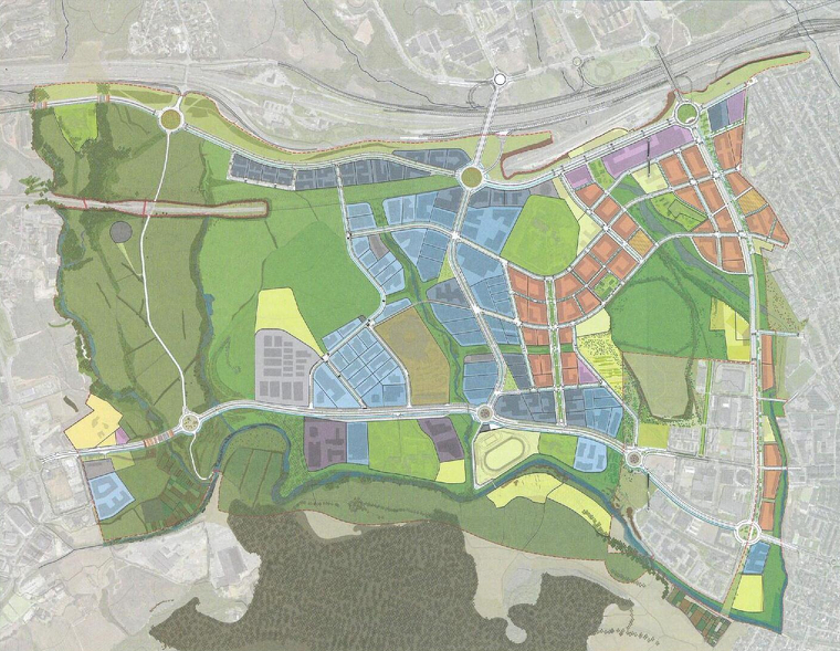 Plànol del Pla Director Urbanístic del Centre Direccional