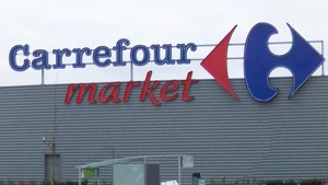 Un supermercado Carrefour en Bourges, Francia