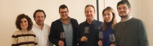 Els vins blancs i negres que es varen tastar en la primera de les activitats de formació organitzades per IGP Vi de la Terra Mallorca