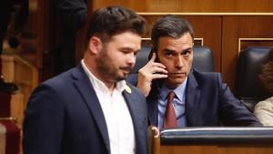 Gabriel Rufián y Pedro Sánchez