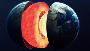Imagen donde se aprecia la estructura interna de la Tierra