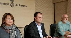 Melgares, Ballart i Martínez en la roda de premsa de balanç del primer any de Taigua