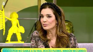 Raquel Bollo en el plató de 'Sálvame'