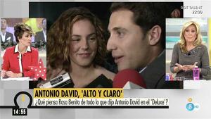Rosa Benito opina sobre la entrevista de Antonio David