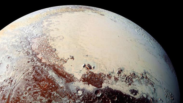 Imagen detallada de la superficie de Plutón