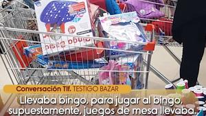Captura del vídeo de Isabel Pantoja comprando en un bazar chino emitido en 'Sálvame' el 2 de enero de 2020