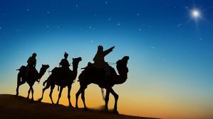 Imagen de los Reyes Magos siguiendo la estrella