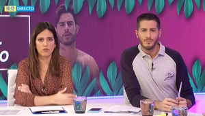 Nuria Marín y Nando Escribano en el plató de 'Cazamariposas'