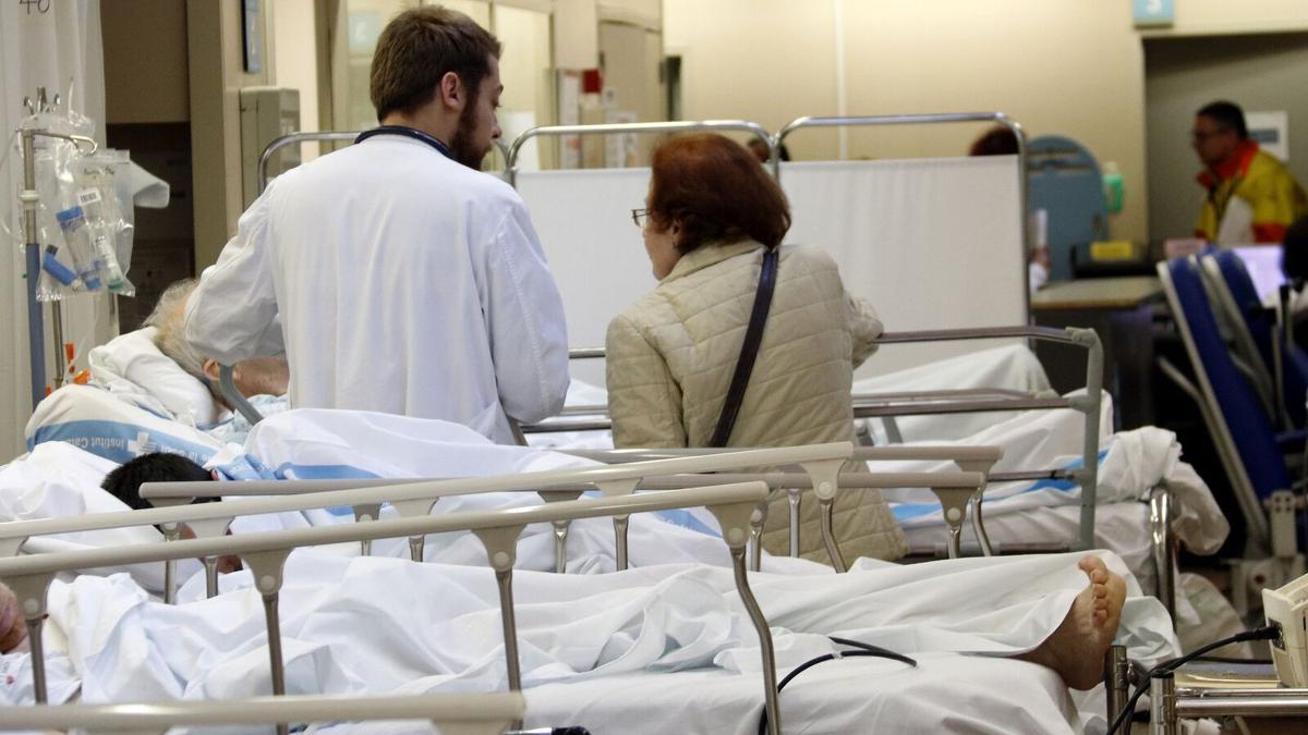 Imatge d'una de les sales de l'hospital Vall d'Hebron de Barcelona.