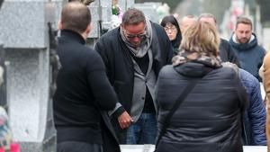 Aurelio Manzano en el entierro de Fran Álvarez el martes 11 de febrero de 2020