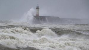 Imagen de un fuerte temporal marítimo