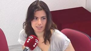 Emilia Landaluce en una entrevista para el programa radiofónico Esradio
