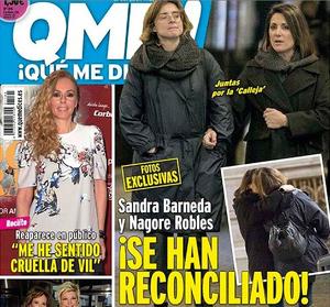 Portada de '¡Qué me dices!' con la reconciliación de Sandra Barneda y Nagore Robles