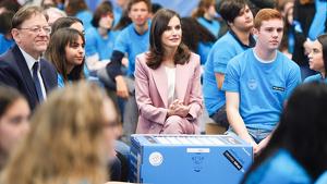 La reina Letizia en la entrega de los premios en investigación científica de la Fundación Princesa de Girona, en Valencia el miércoles 12 de febrero de 2020