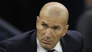Zinedine Zidane durante la final de la Champions entre el Real Madrid y la Juventus jugada en el Millenium Stadium de Cardiff, Gales, el 3 de junio de 2017