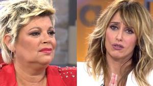 Collage de Terelu Campos y Emma García en el plató de 'Viva la vida' el sábado 1 de febrero de 2020