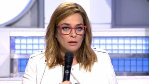 Toñi Moreno en el plató de 'Mujeres, hombres y viceversa' en Cuatro, el 3 de diciembre de 2019