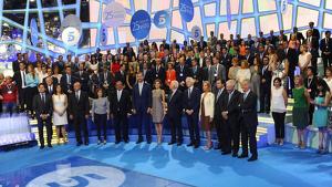 Todos los rostros de Mediaset durante el 25 aniversario de Telecinco. 9 de julio de 2015