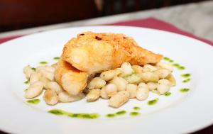 Un plat de bacallà d'un dels restaurants participants en una altra edició