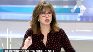 Ana Rosa Quintana enfadada en su programa