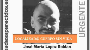 José María López Roldán, hallado fallecido tras haber desaparecido el 15 de marzo en Madrid