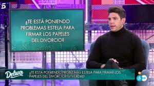 Diego Matamoros realizando un polígrafo sobre Estela en 'Sábado Deluxe'