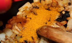 paella amb ceba sofregida i curri