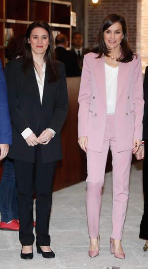 Irene Montero y Letizia han acudido a la 'Asociación para la Prevención, Reinserción y Atención a la Mujer Prostituida', 6 se marzo de 2020
