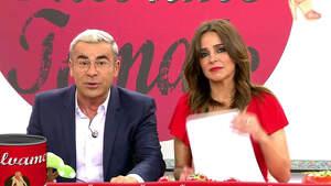 Jorge Javier Vázquez y Carmen Alcayde en el plató de 'Sálvame tomate'