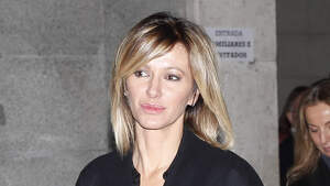 Susanna Griso en el entierro de Pilar de Borbón el 31 de enero de 2020