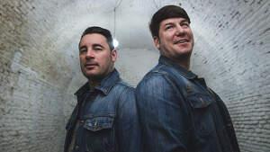 Los cantantes Andrés Morales y Lucas González 'Andy y Lucas' posan para un retrato en Madrid el jueves 12 de marzo de 2020.